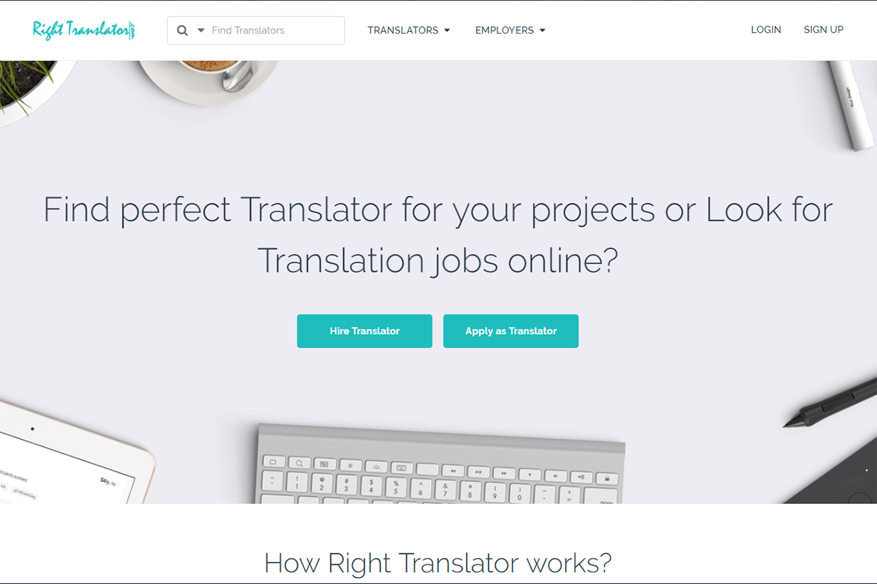 Righttranslator.com (Freelancing Marketplace Website)