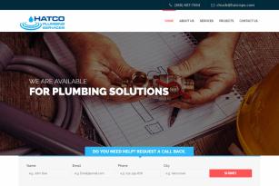 Hatcops.com (Plumbing Service Website)