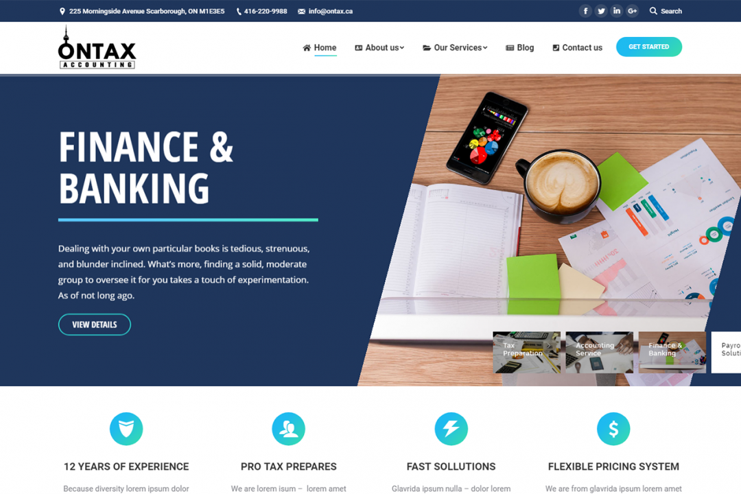 Ontax.ca (Accounting & Tex Service Website)